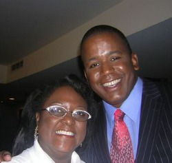 Dr. Deborah R. Brown with former Congressman Kendrick Meek