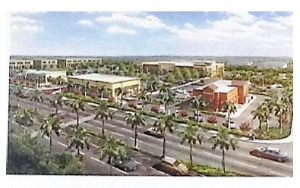 conceptual drawing for walmart marketplace at sunrise boulevard and andrews avenue