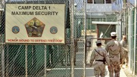A detainment camp at Guantanamo Bay