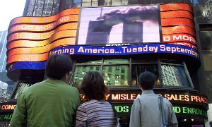 Times Square on Sept. 11, 2001