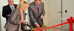 Governor Jan Brewer and Jerry Colangelo cut the ribbon at an Arizona Commerce Authority event in 2012.