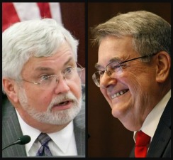 Senate President Don Gaetz, right, and Sen. Jack Latvala, chairman of the Ethics and Elections Committee