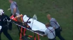 A shooting victim is rushed to the hospital in Miami. Photo: CBS4