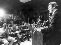 Governor Reubin Askew holds a press conference in 1971 Photo: State Archives of Florid