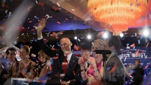 Rick Scott celebrates his Republican primary victory over Bill McCollum at the Hilton Fort Lauderdale Marina on Aug. 24, 2010. One month earlier, Envestnet, a company where Scott was an investor and board member, settled civil charges of corporate espionage and theft.