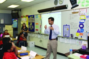 Miami Congressman-Elect Carlos Curbelo visits Dr. Gilbert L. Porter Elementary School in southwest Miami-Dade.
