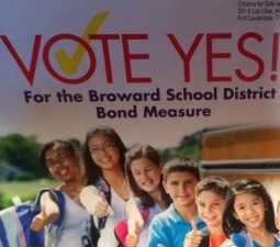 A political committee's mailer asking voters to approve last November's $800 million bond measure.