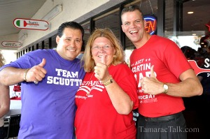 2012 victory party for Property Appraiser Lori Parrish and Broward County Commissioner Martin Kiar. Also pictured, left, is Sunrise Commissioner Joseph Scuotto. Photo: TamaracTalk.com