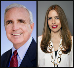 Miami-Dade Mayor Carlos Gimenez and School Board Member Raquel Regalado