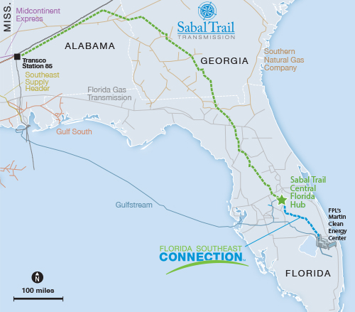 Sabal Trail pipeline project map