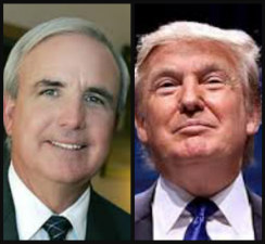 Donald Trump, right, and Miami-Dade Mayor Carlos Gimenez