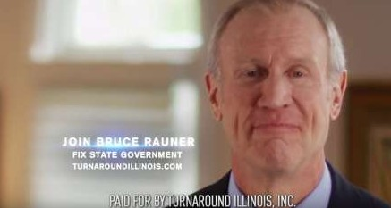 Turnaround Illinois used this ad to slam Democratic legislative leaders who opposed Illinois Gov. Bruce Rauner's agenda. The ad, which features the Republican governor, began airing in June. Youtube/Turnaround Illinois