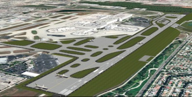 Fort Lauderale-Hollywood International Airport and its expanded south runway. Image: Broward County