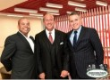Jordan Zimmerman is flanked by Broward Health Commissioners Darryl Wright, left, and David Di Pietro at last June's fundraiser for Judge Nina Di Pietro. Photo: Downtown Photo, Fort Lauderdale