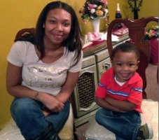 Kayla Davidson and her son, Maxx, who was four-years-old when he died in a rear-end collision in Memphis in April, 2014.