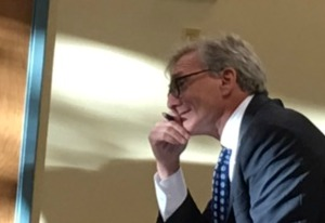 Broward Health Special Legal Counsel Mitchell Berger at a Feb. 17 board meeting