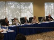 Broward Health's board of commissioners at a meeting last month.