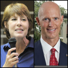 Republican Gov. Rick Scott and U.S. Rep. Gwen Graham, D-Tallahassee