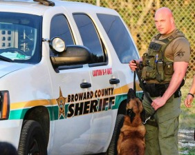 "Gerald Wengert in a publicity photo for ""Unleashed: K-9 Broward County"""