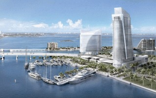 A rendering of planned development on Watson Island