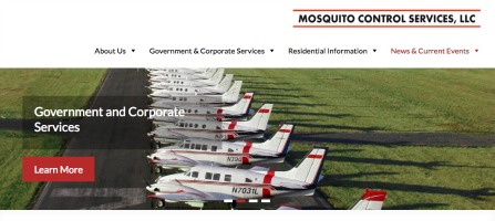 A screenshot from the web site of Mosquito Control Services LLC.