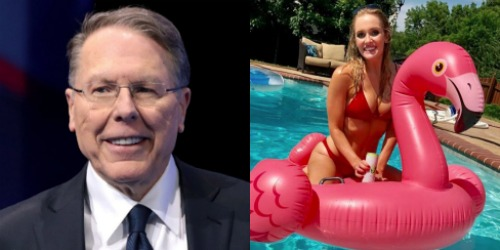 Wayne LaPierre and Megan Allen