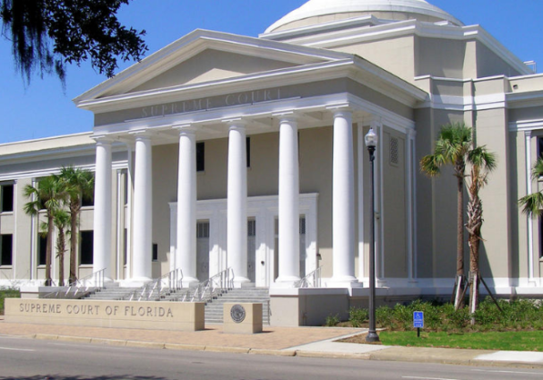 columned front of the Florida Supreme Court