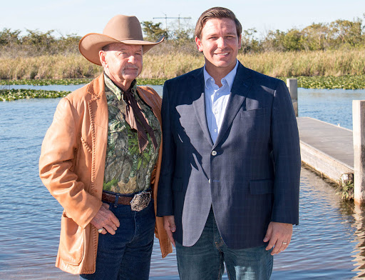 Ron Bergeron with Gov. Ron DeSantis