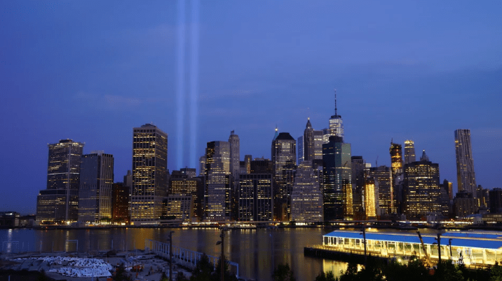 9-11 twin blue lights
